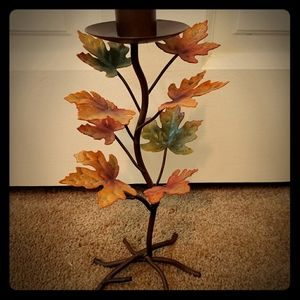 Beautiful leaf candle holder